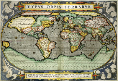 World Map Fine Art Print by Abraham Ortelius