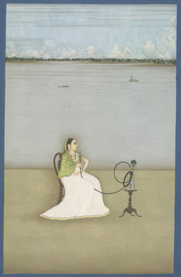 Muttubby, mistress of Ashraf 'Ali Khan by Dip Chand - print