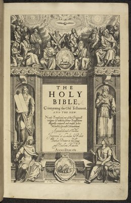 Title page of the The first edition of the King James Bible by unknown - print