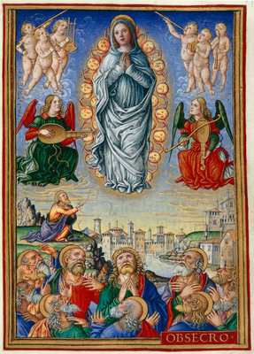 Assumption of the Virgin by Giovan Pietro Birago - print