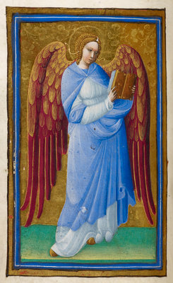Angel with a book by Belbello da Pavia - print