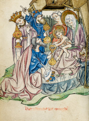 Adoration of the Magi by Workshop of the Master of the Morgan Infancy Cycle - print