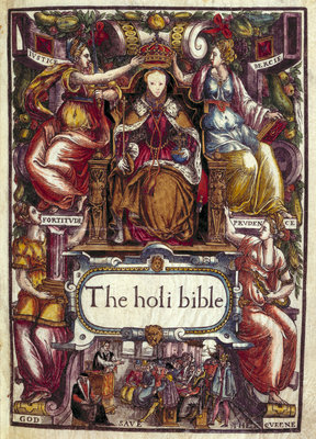 The title page of the Bishops' Bible by Anonymous - print
