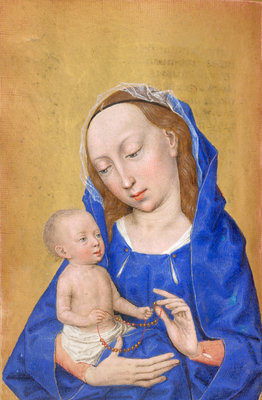 The Virgin and Child by Simon Marmion - print