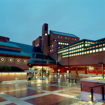 The British Library at night by The British Library - print