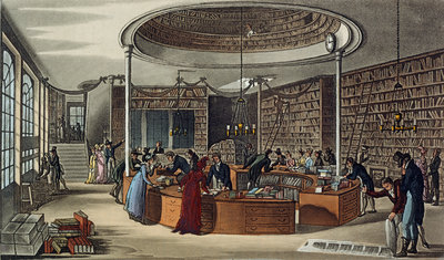 A library by Anonymous - print