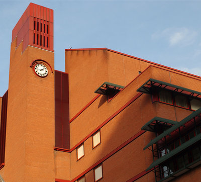 British Library clock tower by The British Library - print
