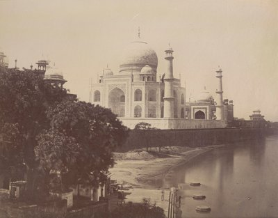 View of the Taj Mahal from the banks of the Jumna by Anonymous - print