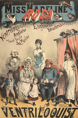 Miss Madeline Rosa, ventriloquist by Anonymous - print