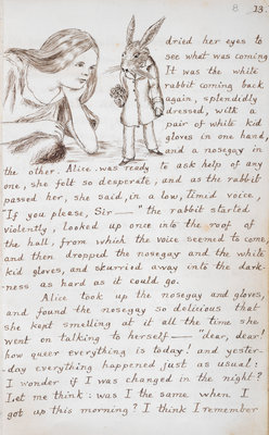 Alice and the White Rabbit by Lewis Carroll - print
