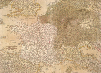 Map of Europe by Gerardus Mercator - print