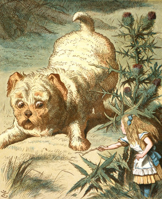 Dash the puppy by Sir John Tenniel - print