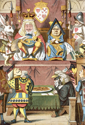 Inspecting the tarts by John Tenniel - print