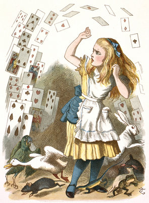 The shower of cards by John Tenniel - print