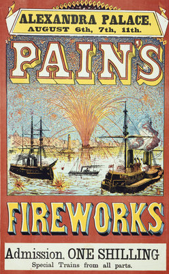Pain's Fireworks by Anonymous - print