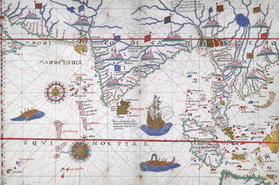 Chart of the Indian Ocean by Joan Martines - print