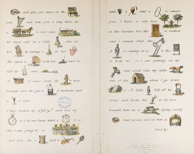An illustrated letter by Catherine Sinclair - print