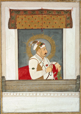 Muhammad Shah at the jharoka, c.1735-40 by Govardhan II - print
