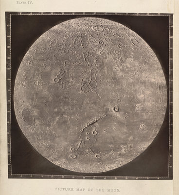 Map of the Moon by James Nasmith - print
