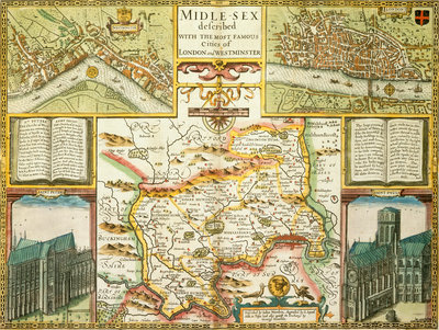 Map of London and Middlesex by John Speed - print