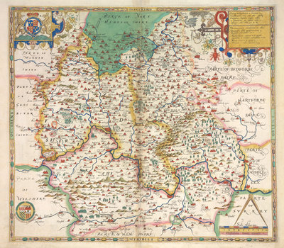 Map of Oxfordshire, Berkshire and Buckinghamshire by Christopher Saxton - print