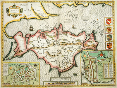 Map of the Isle of Wight by John Speed - print