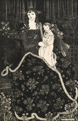 Christmas Card by Aubrey Beardsley - print