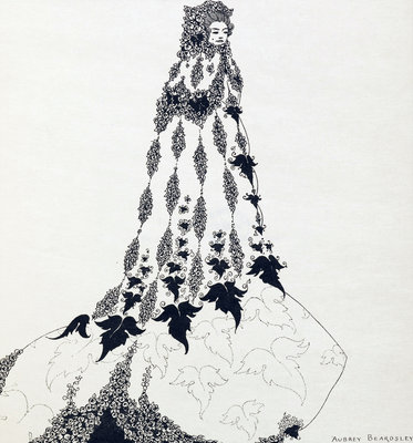 Ballet costume, unfinished drawing by Aubrey Beardsley - print
