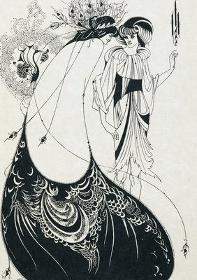 The Peacock skirt by Aubrey Beardsley - print