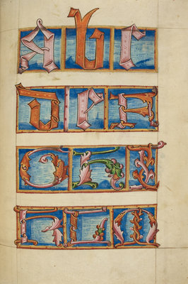 Medieval alphabet from the Macclesfield Alphabet Book by Anonymous - print