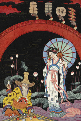 A woman and a maker of perfume. by George Barbier - print