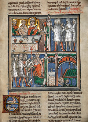 The martyrdom of Thomas Becket by Anonymous - print