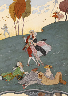 Young love by George Barbier - print