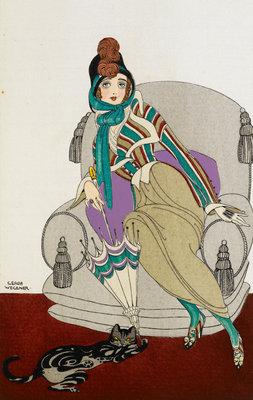Parissienne fashion plate by Gerde Wegener - print