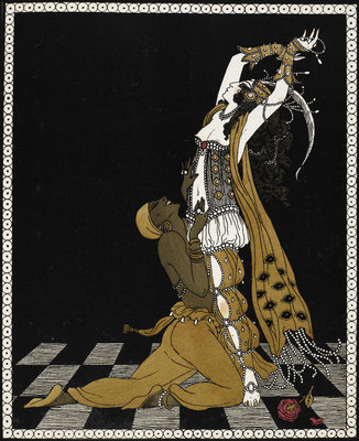 Nijinsky as the Golden Slave in Scheherazade by George Barbier - print