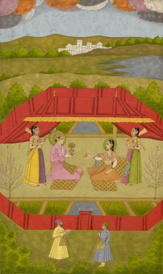 Prince Gauhar and Princess Malika-i Zamani by Govardhan II - print