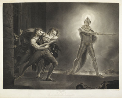 Hamlet and the Ghost by R. Thew - print