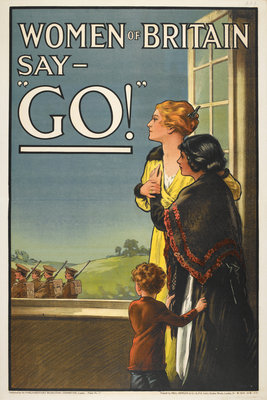 Women of Britain say Go! by E V Kealy - print