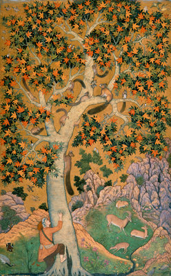 Squirrels in a plane tree by Abu'l Hasan - print