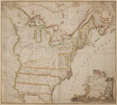 A historic map of America by Abel Buell - print