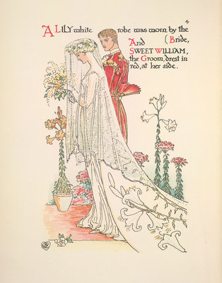 A Flower Wedding by Walter Crane - print