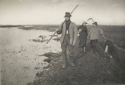 Coming home from the marshes, c. 1886 Wall Art & Canvas Prints by Peter Henry Emerson