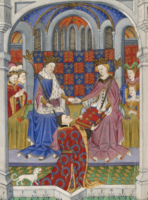Margaret of Anjou with Henry VI by Anonymous - print