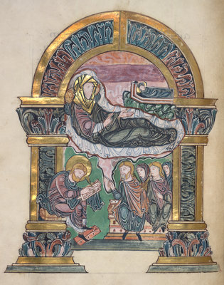 The nativity of St John the Baptist by Anonymous - print