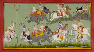 Rama and his brothers grow up by Manohar - print