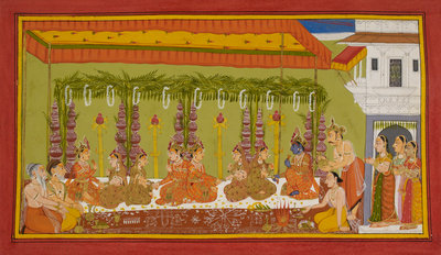 Rama and Sita's marriage by Anonymous - print