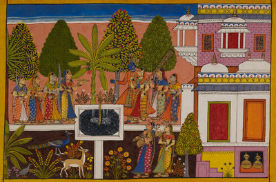Rama and Sita are united in marital happiness by Anonymous - print