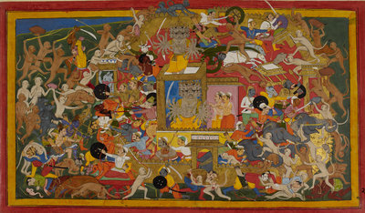 Rama attacks Lanka by Anonymous - print