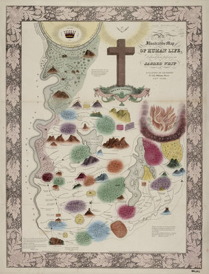 Map of Human Life by Anonymous - print