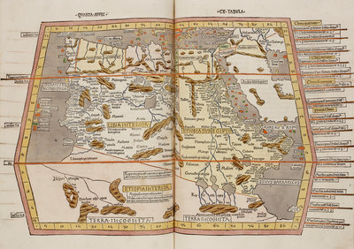 A historic map of Northern Africa, Ethiopia and Egypt by Anonymous - print